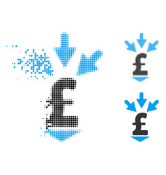 Fragmented pixel halftone integrate pound payment vector