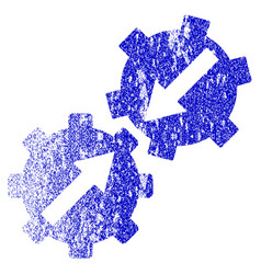 Gear integration grunge textured icon vector