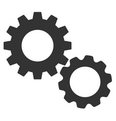 gears flat icon vector image