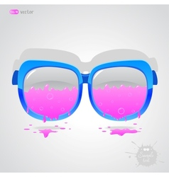 Glasses pink vector