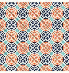 Gorgeous seamless pattern moroccan portuguese vector