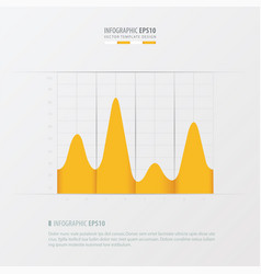 Graph and infographic design yellow color vector