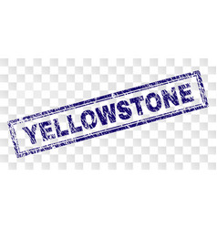 Grunge yellowstone rectangle stamp vector
