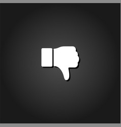 hand thumb down dislike icon flat vector image