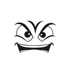 Irritated angry smiley in bad mood isolated emoji vector