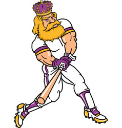 king sports logo mascot baseball vector image