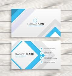 light white business card minimal design vector image