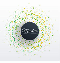 Mandala art design background vector