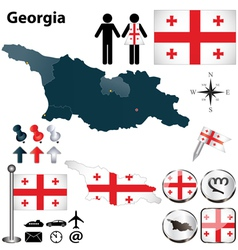 Map of Georgia vector
