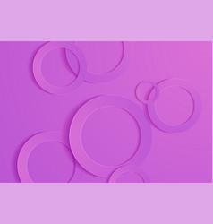 Modern orchid backgrounds 3d circle papercut vector