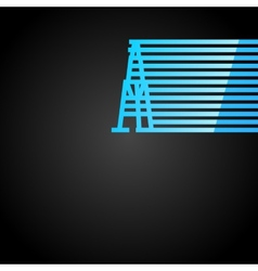 Oil rig icon vector image