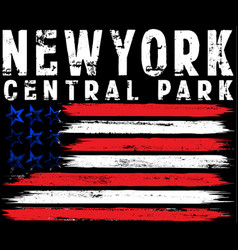 on theme in new york city freedom stylized vector image