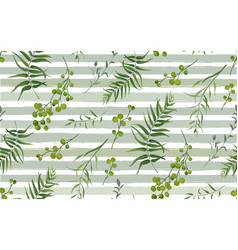Palm fern natural branches pattern seamless vector