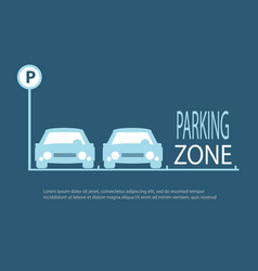 Parking zone blue background vector