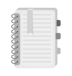 Personal dictionary icon in monochrome style vector