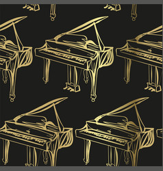 Piano sketch isolated design element isolated vector