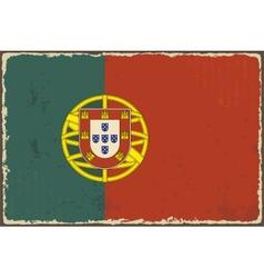 Portuguese grunge flag vector