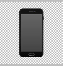 realistic smartphone icon isolated on transparent vector image