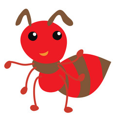 red fat ant on white background vector image