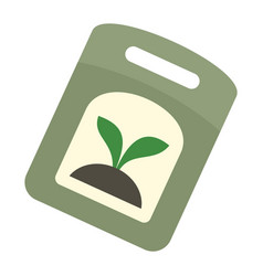 Seed pack icon flat style vector