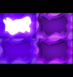 set from the paper violet shades with smooth vector image