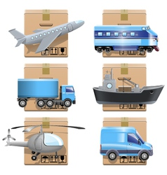 Shipment Icons vector image