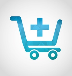 Shopping icon vector