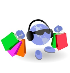 shopping world vector image