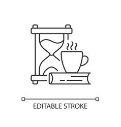 Slow living linear icon vector