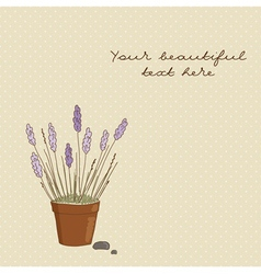Spring background whis delicate violet flowers vector image