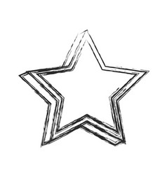 Star decoration symbol image sketch vector