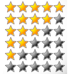 Star rating element template vector