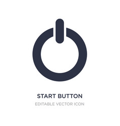 Start button icon on white background simple vector