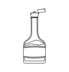 Syrup bottle icon vector