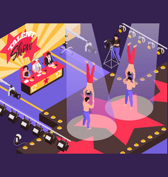 Talent show isometric composition vector