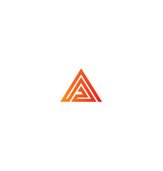 Triangle pyramid company logo vector