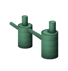 Two green septic tank vector