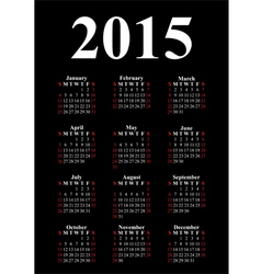 vertical calendar for 2015 vector image