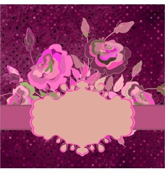 Vintage template with floral background EPS 8 vector image