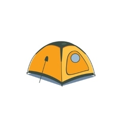 Yellow canvas tent vector