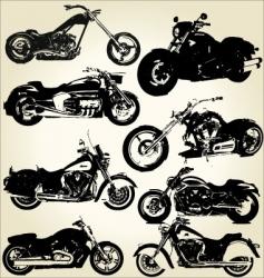 cruiser motorcycles vector image