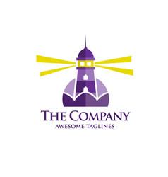 lighthouse flat logo vector image