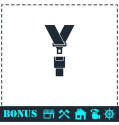 Safety belt icon flat vector image