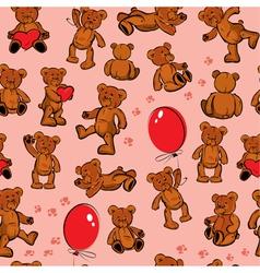 seamless bears color 380 vector image