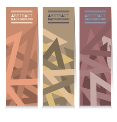 Set Of Three Modern Graphic With Vintage Color vector image vector image