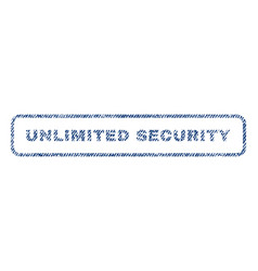 unlimited security textile stamp vector image vector image
