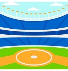 Background of baseball stadium vector image