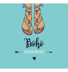 Bohemian summer poster vector image vector image