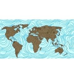 Decorative world map vector image