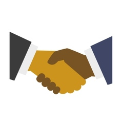 Handshake Icon on White Background Flat Design vector image